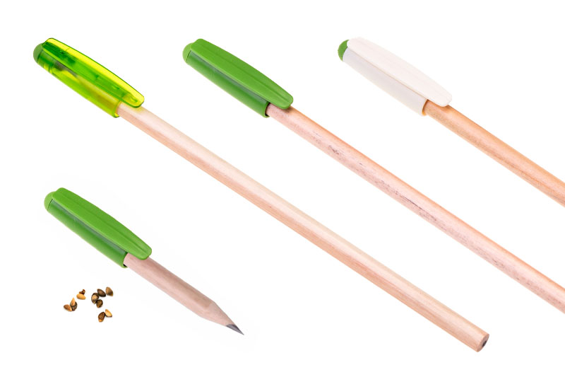 Pencil with Cap and Seeds